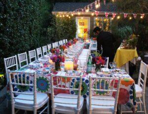 Back Yard BBQ Paella Party